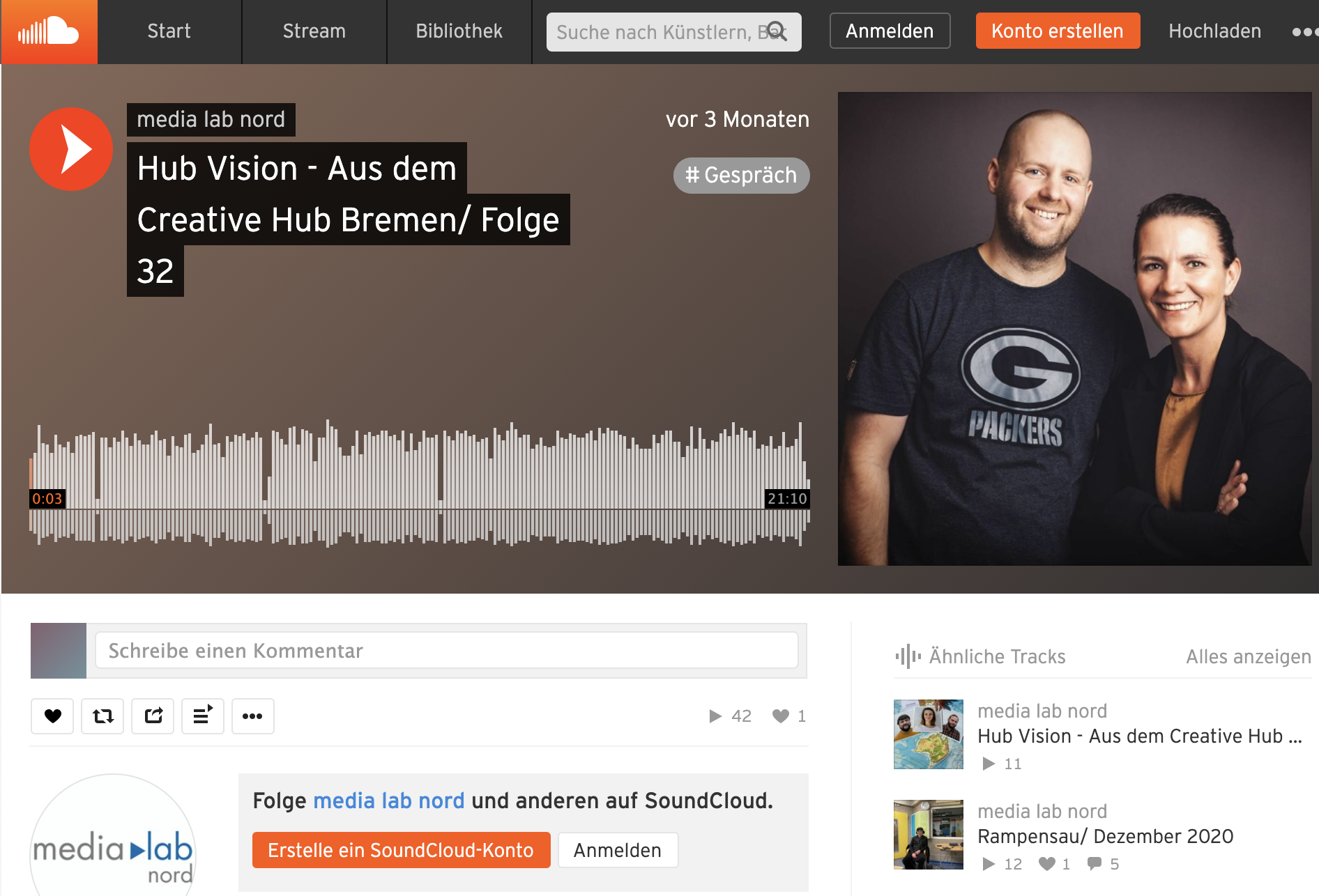 Soundcloud Hub Vision