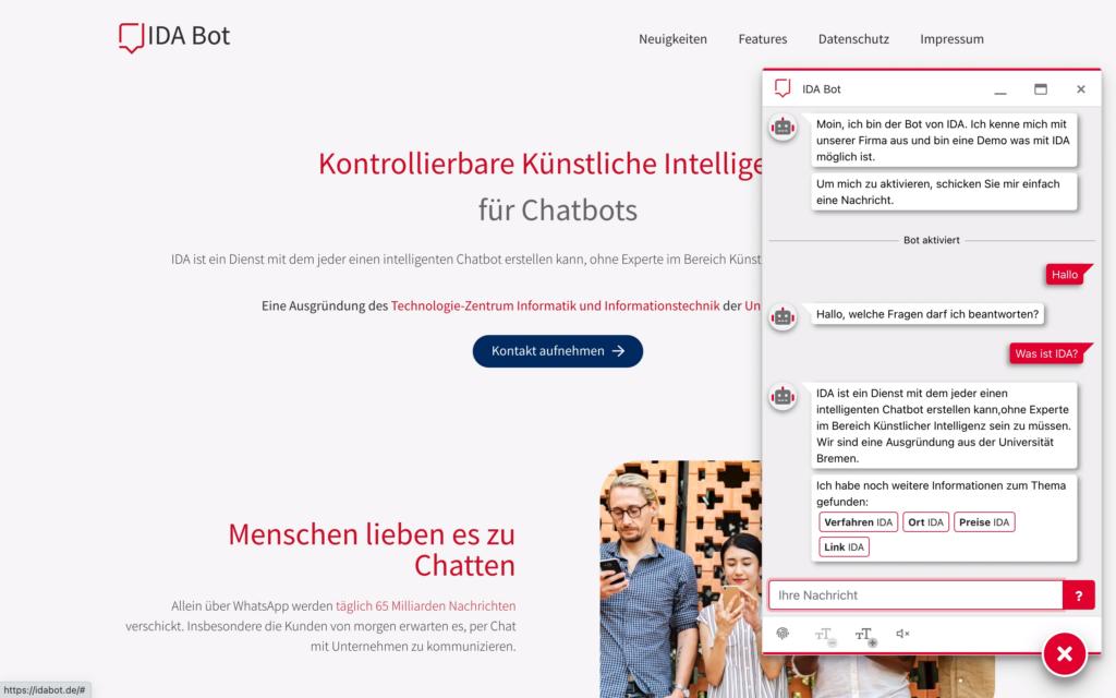 Webchat Screenshot